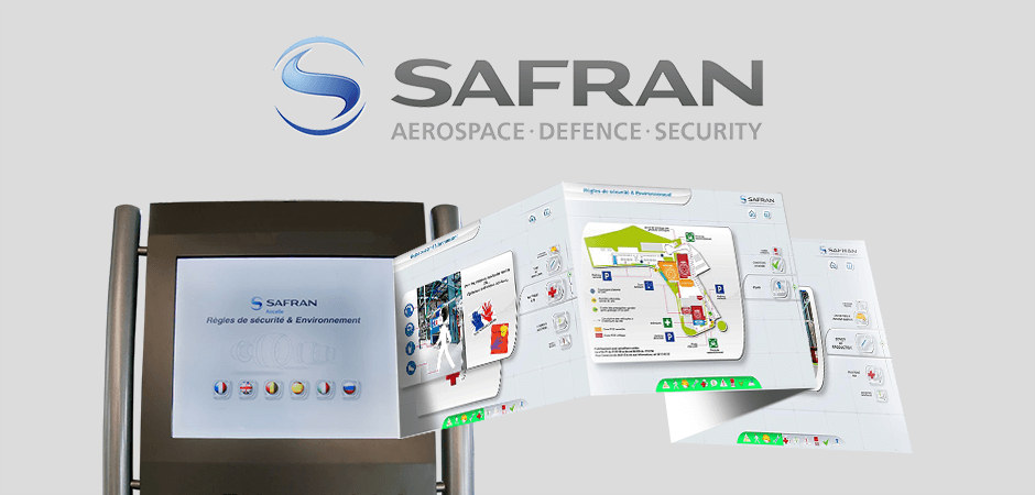 aircelle, borne, hse, interactive, application
