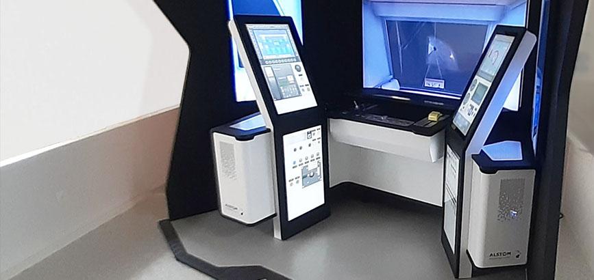 Simulateur de conduite Alstom à Barcelone